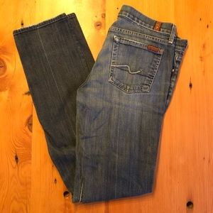 7 for all Mankind -  Blue Straight Leg Jeans